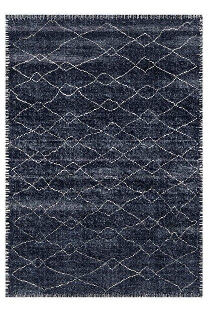 EVİMOD Prizma Dark Blue Yıkanabilir Kaymaz Taban Dekoratif Halı Kilim 29500
