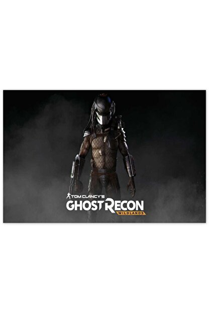 Cakatablo Ahşap Tablo Predator Ghost Recon Wildlands -35-50 Cm