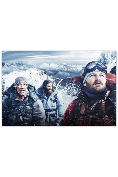 Cakatablo Ahşap Tablo Everest Kar Fırtınası Yaklaşıyor -50-70 Cm