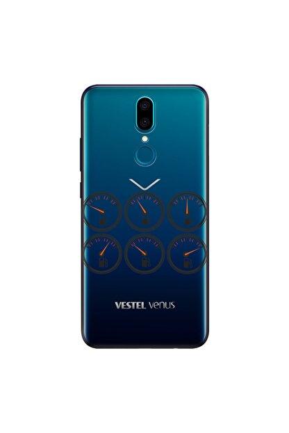 cupcase Vestel Venus V7 Kılıf Esnek Silikon Kapak Fuel Desenli + Nano Cam