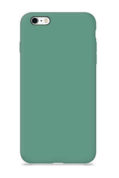 MobileGaraj Iphone 6/6s İçi Kadife Lansman Yeşil Kılıf