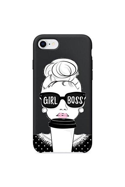 Mobildizayn Galaxy A8 2016 Girl Boss Yazılı Silikon Kılıf