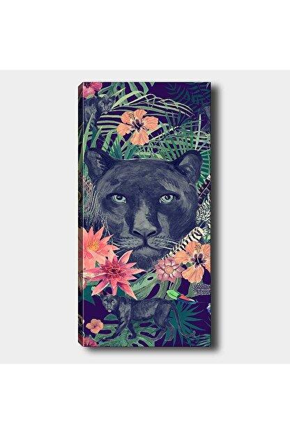 Shop365 Lacivert Panter Dikey Kanvas Tablo 45x30 cm Sb-32374