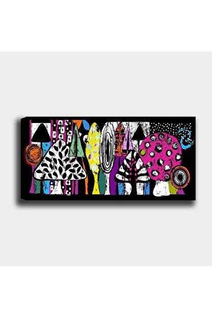 Shop365 Renkli Ağaçlar Kanvas Tablo 60 X 40cm Sb-11152