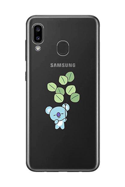 Mupity Yapraklı Koala Tasarımlı Samsung A20-a30 Şeffaf Telefon Kılıfı