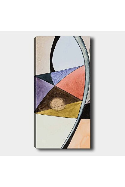 Shop365 Soyut Şekiller Kanvas Tablo 90 X 60 cm Sb-264