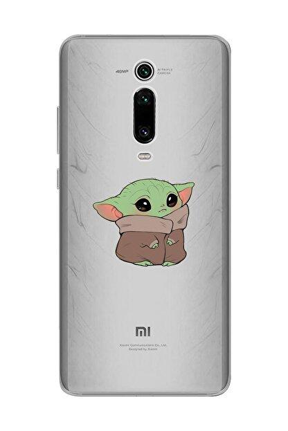 Mupity Şeffaf  Bebek Yoda Tasarımlı Xiaomi Mi 9t Telefon Kılıfı
