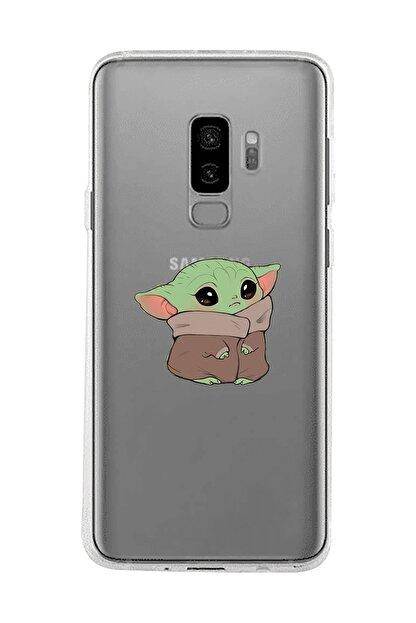Mupity Bebek Yoda Tasarımlı Samsung S9 Plus Şeffaf Telefon Kılıfı