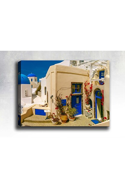 Shop365 Yunanistan Evleri Kanvas Tablo 120 X 80 cm