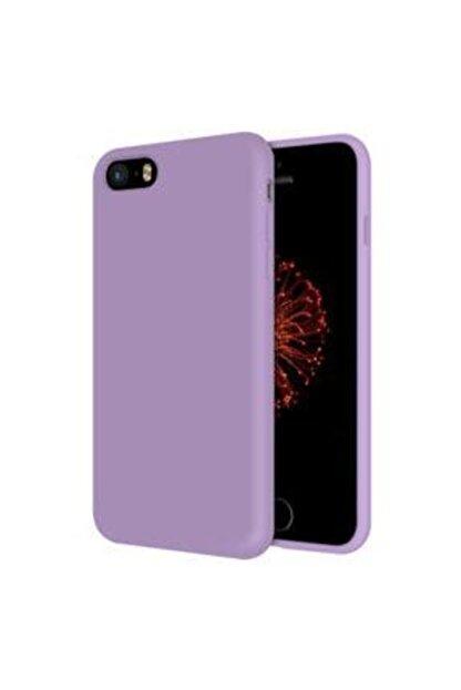 E TicaShop Apple Iphone 5 / 5s Kılıf Içi Kadife Lansman Silikon Kılıf - Lila