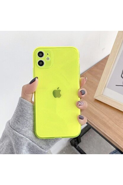 AksesuarLab Iphone 11 Kılıf Kamera Korumalı Kılıf - Sarı