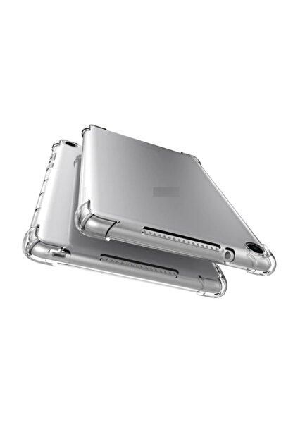 """Huawei Mediapad T5 10.1"""" Kılıf Anti Shock Köşe Korumalı Darbe Emici Şeffaf Yumuşak Silikon"""