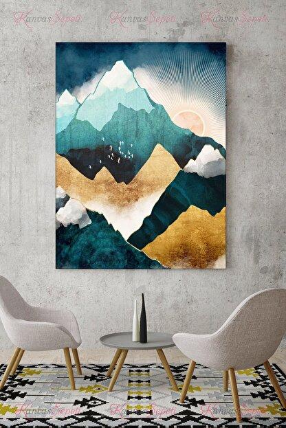 KanvasSepeti 70x50cm Orta Boy Renkli Dağlar Kanvas Canvas Tablo Tablolar