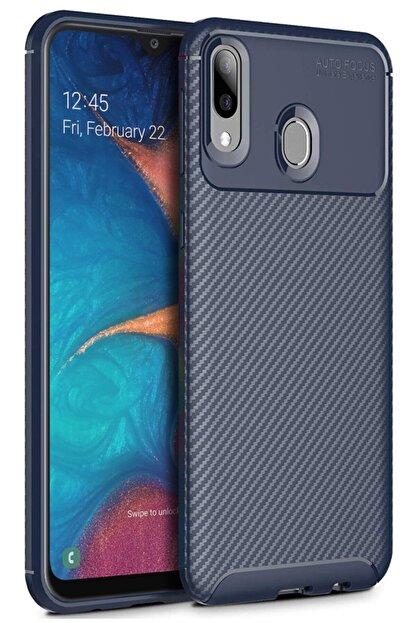 Samsung Galaxy A30 Kılıf Sert Korumalı Zırh Karbon Fiber Kapak