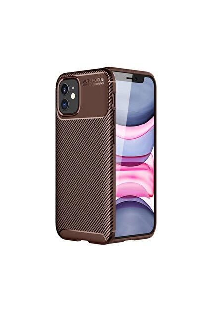 KNY Apple Iphone 12 Mini Kılıf Karbon Desenli Lux Negro Silikon+nano Cam Ekran Koruyucu