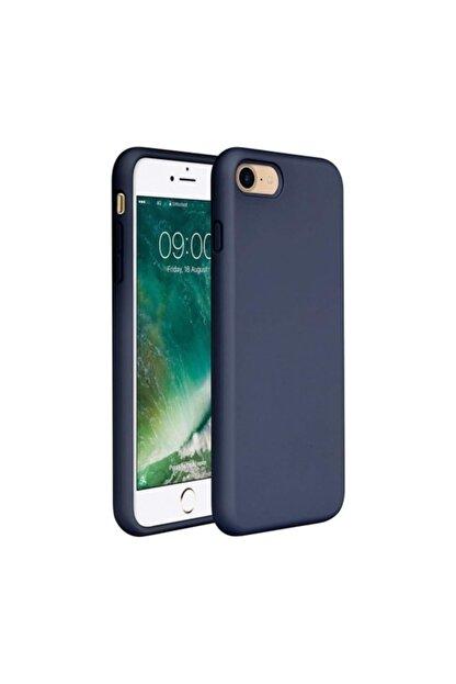 Zengin Çarşım Apple iPhone 7 - 8 - SE 2020 İçi Kadife Lansman Silikon Kılıf Lacivert