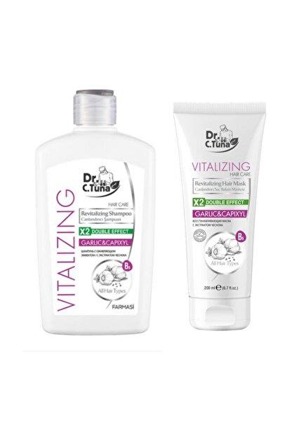 Farmasi Dr C. Tuna Vitalizing Sarımsaklı Şampuan 500 Ml + Saç Bakım Maskesi 200 Ml