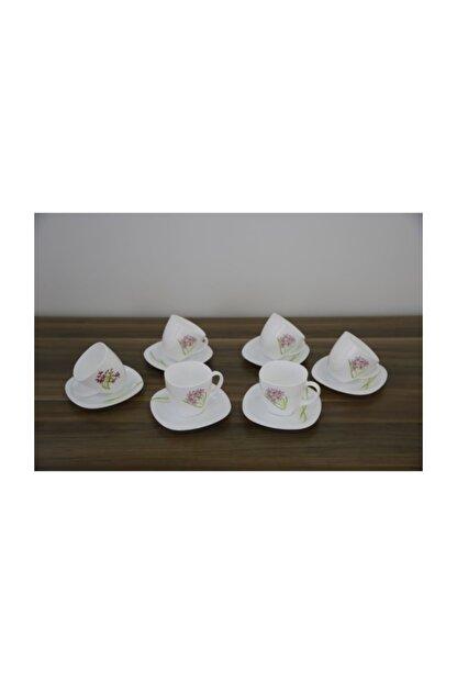Luminarc Çay Fincanı Jacinthe 6' lı Beyaz Seti 220 ml
