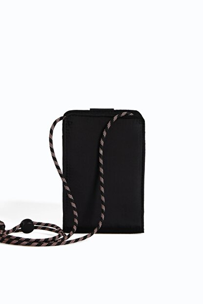 Oysho Kadın Siyah Omuz Askılı Cep Telefonu Çantası
