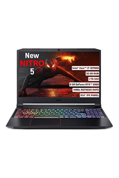 "ACER Nitro 5 Intel Core I7 10750h 32gb 1 Tb Ssd Rtx 3060 Freedos 144 Hz 15.6"" Fhd Ips Nh.qb2ey.003"