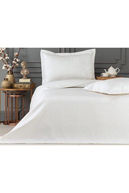 Madame Coco Lilou Çift Kişilik Yatak Örtüsü - Beyaz