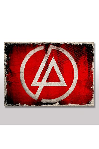 Tablomega 50cmX70cm Ahşap Tablo Linkin Park Logo