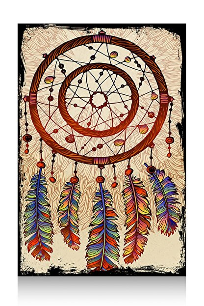 Tablomega Mini Ahşap Tablo Dream Catcher  25X35Cm