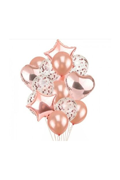 BalonEvi Rose Gold Balon Seti
