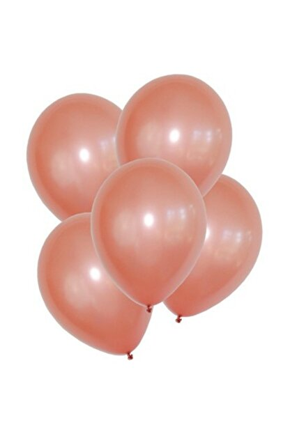 BalonEvi Metalik Rose Gold Balon 12 Inch 10 Adet