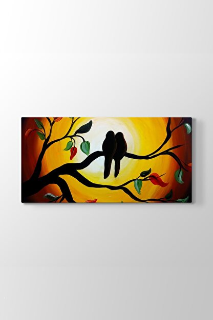 TabloShop Double Lovers Tablo (Model 5) - (ÖLÇÜSÜ 100x50 cm)