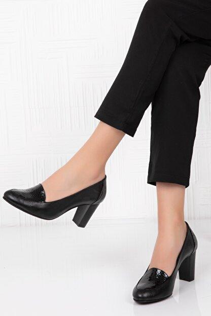 Potini Ayakkabı - Anatomik Potini Ayakkabı Hakiki Deri Kadın Topuklu Ayakkabı