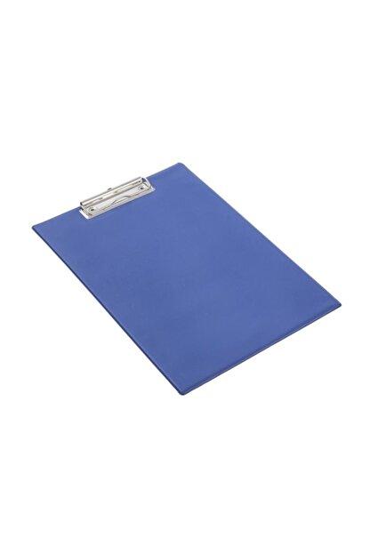 KRAF A4 Kapaksız Sekreterlik  Dosyası Üstten Klipsli Mavi