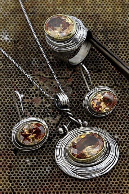 Akyüz Gümüş Otantik El Işi Sarmalı Gümüş Set 040