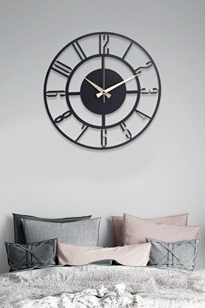 Muyika Design Bunnela Metal Siyah Duvar Saati 41x41 cm