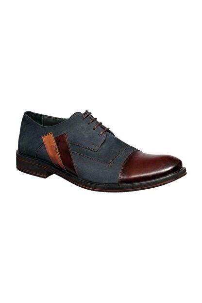 Banner Erkek Lacivert Hakiki Deri Klasik Ayakkabı | 116370