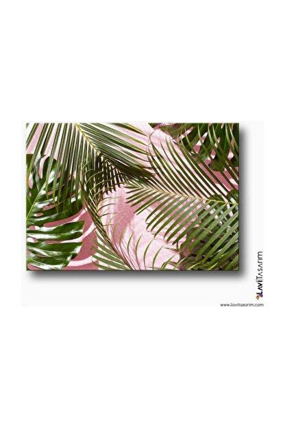 Lavi Tasarım Palmiye Yaprakları Kanvas Tablo
