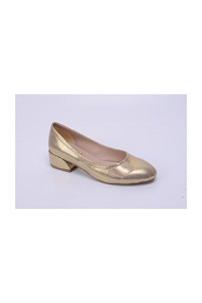 Ayakkabin11 Kadın Abiye Topuklu Ayakkabı Altın Rengi