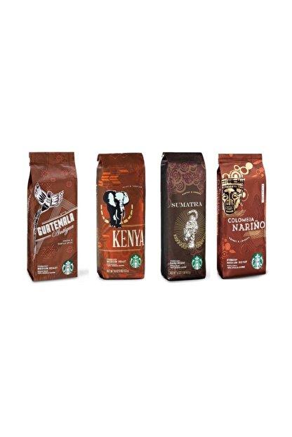 Starbucks Starbucks Deneme Paketi Filtre Kahve 4x250 gr 4 Paket Kahve Makinası İçin Çekilmiş