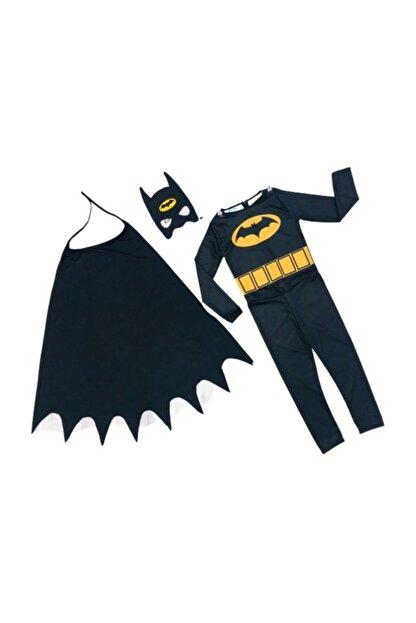 Tpm Orjinal Batman Çocuk Kostümü - Maskeli Pelerinli Batman Kostümü - Batman Kostümü
