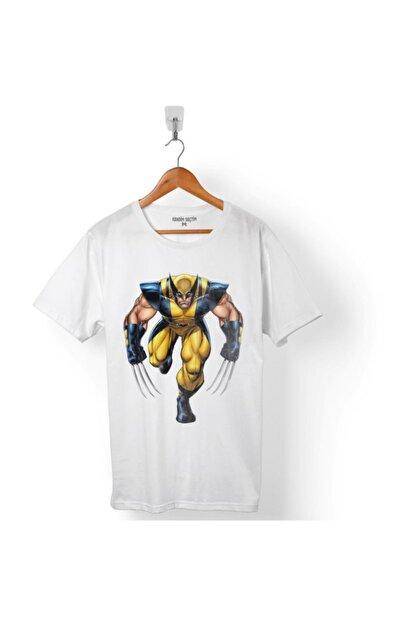 Kendim Seçtim Erkek Beyaz The Wolverıne Marvel Tişört