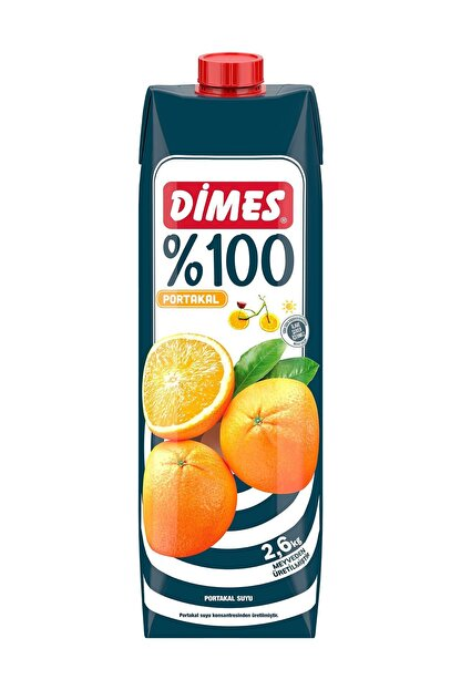 Dimes Dimes %100 Portakal Suyu 1 L
