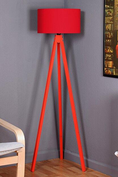 Zeyrek 3 Ayaklı Lambader - Kırmızı / Kırmızı