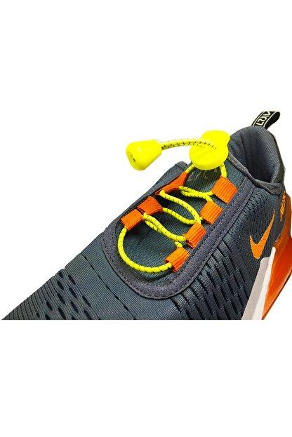 LUCKY Sarı Akıllı Kilitli Elastik Ayakkabı Bağcık 100 Cm