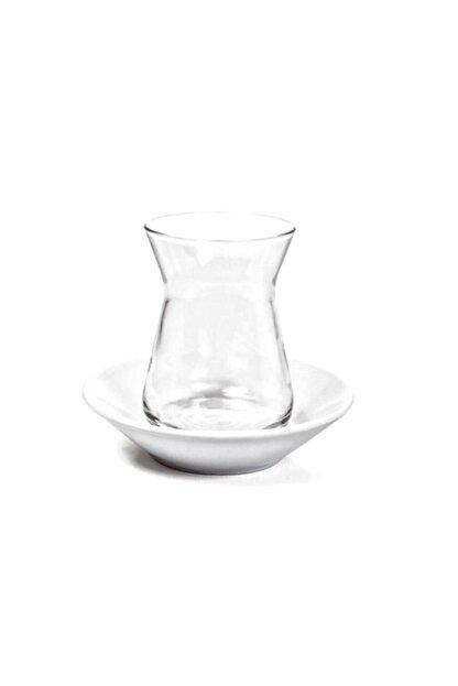 Güral Porselen Madrid Beyaz Çay Tabağı 6'lı