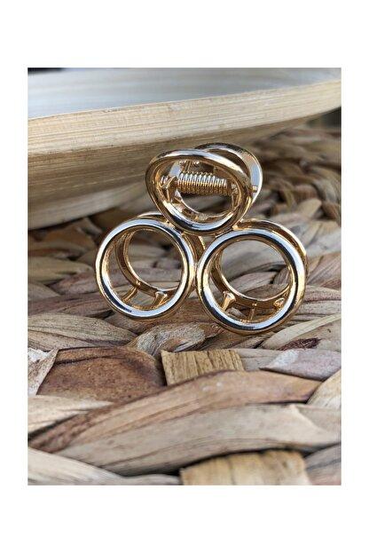 İnci Accessories Metal Mandal Toka Gold Renk