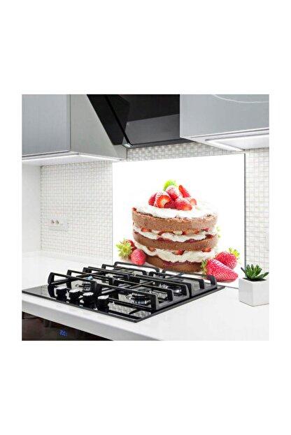 PRATİK DEKOR Cam Ocak Arkası Koruyucu | Pasta Model
