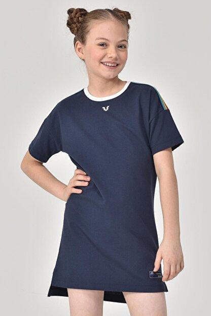 bilcee Lacivert Kız Çocuk Elbise GS-8152