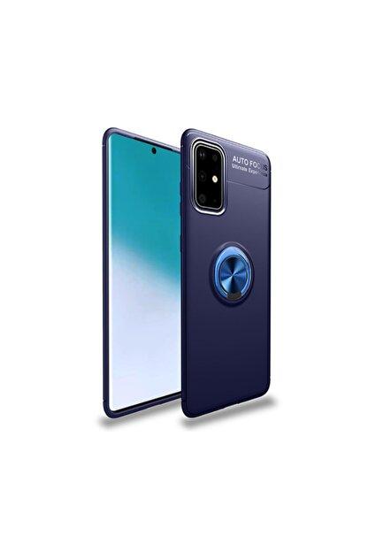 Canpay Galaxy A51 Kılıf Yüzüklü Standlı Ve Mıknatıs Özellikli Lüx Silikon