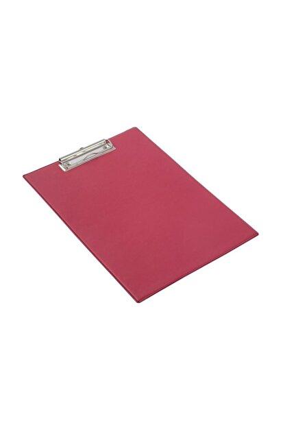 KRAF A4 Kapaksız Sekreterlik Dosyası Üstten Klipsli Kırmızı