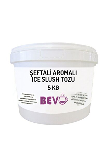bevo Şeftali Aromalı Ice Slush Karlama Tozu 5 kg